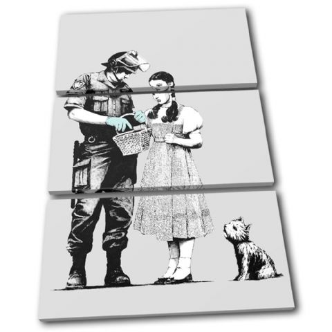 Stop Search Banksy Painting - 13-1598(00B)-TR32-PO